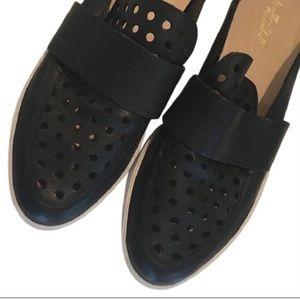 Loeffler Randall Black Leather Mule Sneakers Shoes